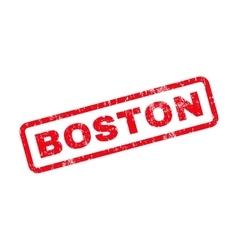 Boston Text Rubber Stamp vector image vector image