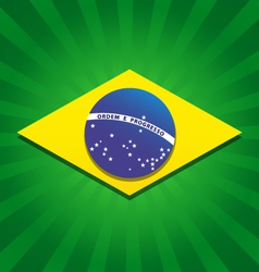 Brazil bursting flag logo vector image vector image