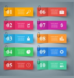 business infographic ten items vector image