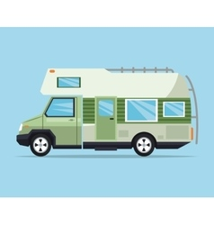 Campervan vehicle and transportation design vector