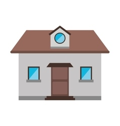 Cartoon front view home window loft vector