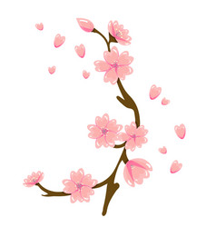 cartoon sakura spring flower vector image