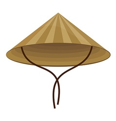 Chinese conical hat vector image