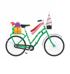Christmas Bicycle vector