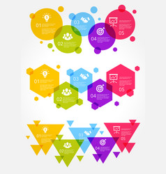 colorful business infographic vector image