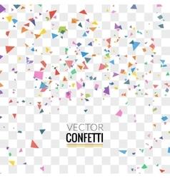 Colorful Confetti on Transparent square Background vector