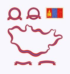 colors mongolia vector image