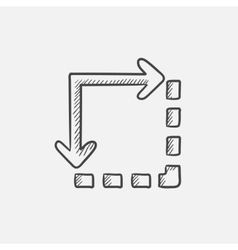Content extension sketch icon vector image