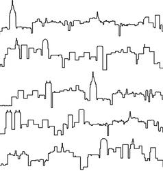 contours buildings vector image