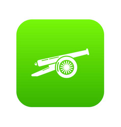 Enemy cannon icon green vector