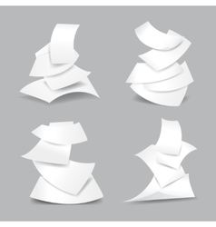 Falling paper sheets vector image vector image