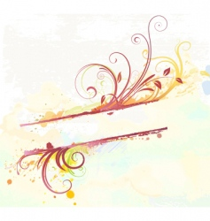 floral decorative banner vector image