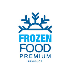 frozen food premium product label for freezing vector image
