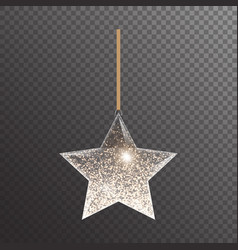 Glowing christmas star vector