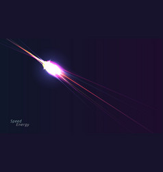 glowing lighr arrow sparcle on dark background vector image