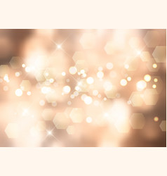 gold christmas background with bokeh lights vector image