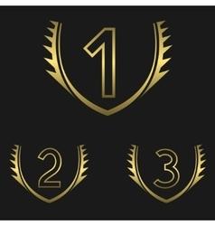 Golden Award set vector image