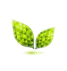 Green mosaic leaf vector image