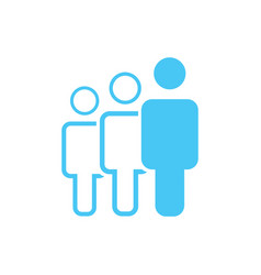 group of three people or group of users friends vector image