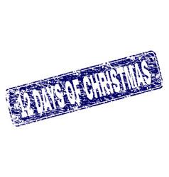 Grunge 12 days of christmas framed rounded vector