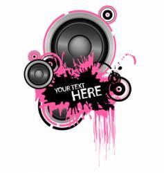 grunge speaker design vector image