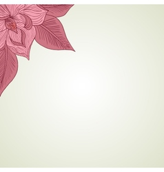 Hand drawing floral background vector image