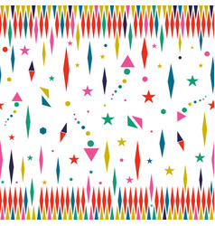 holiday color stars seamless pattern art vector image