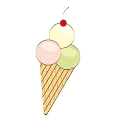 ice cream delicious dessert vector image