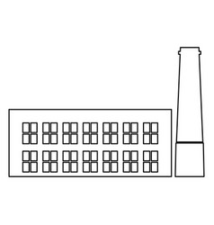 industrial building factory the black color icon vector image