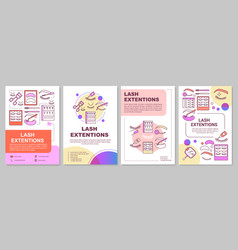 lash extension brochure template layout false vector image