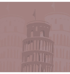 Leaning tower of pisa background vector image