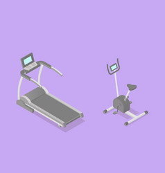 low poly isometric training apparatuses vector image