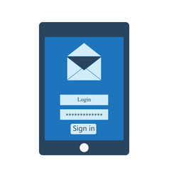mail client on tablet vector image