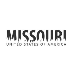 missouri usa united states of america text or vector image