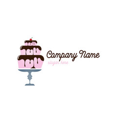 Pastry cake logo vector