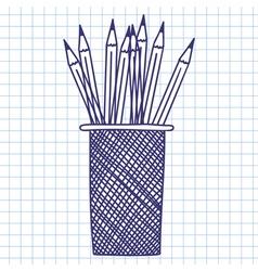 Pencil case vector image