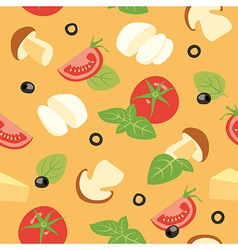 Pizza ai funghi Ingredients vector image