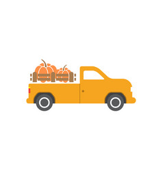 pumpkin truck design template isolated vector image