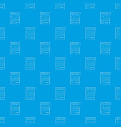 resume pattern seamless blue vector image