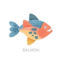 salmon fish freshwater fish vector image