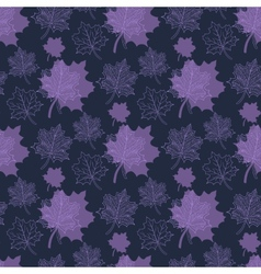 Seamless Autumn patternabstract purple leafleaf vector