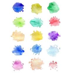 Set of abstract watercolor blots vector image