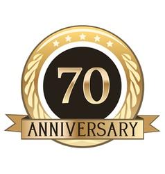 Seventy Year Anniversary Badge vector