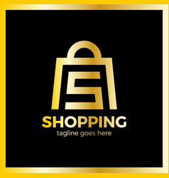shop bag logo - letter s vector image