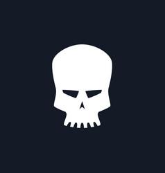 silhouette robot skull vector image