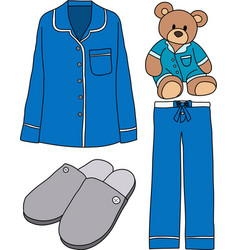 Sleeping clothes vector image