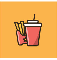 soda soft drink and french fries vector image