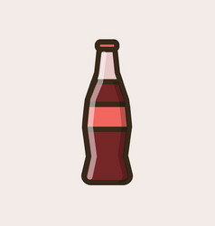 Soft soda drink in a glass bottle vector