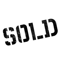 Sold rubber stamp vector