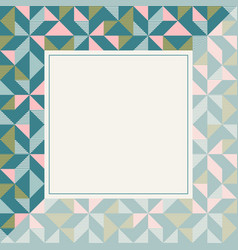square frame in retro colors abstract geometric vector image